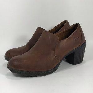 boc Born Sz 9 Slip On Leather Ankle Booties